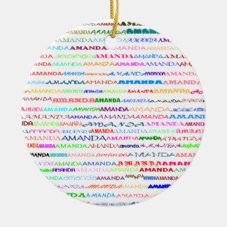 Amanda Text Design II Ornament
