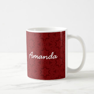 AMANDA Wine Red Custom Name Gift Collection Coffee Mug