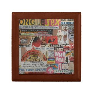 Amanda's magazine and cardboard picture collage #7 gift box