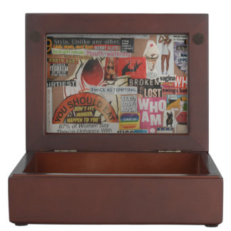 Amanda's magazine and cardboard picture collage #7 keepsake box