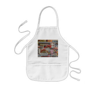 Amanda's magazine and cardboard picture collage #7 kids apron
