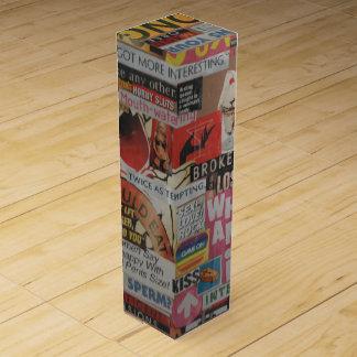 Amanda's magazine and cardboard picture collage #7 wine gift box