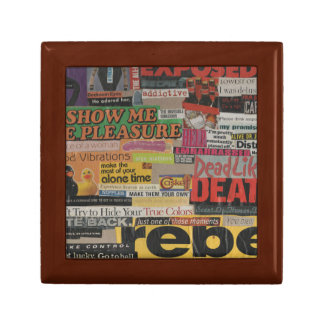 Amanda's magazine and cardboard picture collage #8 trinket boxes