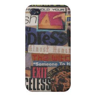 Amanda's magazine & cardboard picture collage #12 iPhone 4 cases