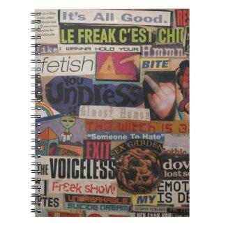 Amanda's magazine & cardboard picture collage #12 notebook