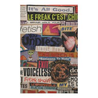 Amanda's magazine & cardboard picture collage #12 stationery