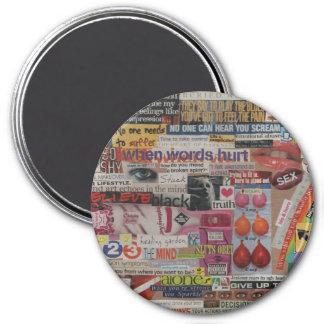 Amanda's magazine & cardboard picture collage #13 magnet