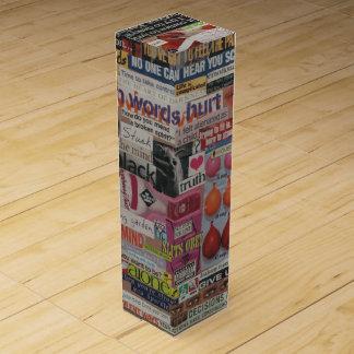Amanda's magazine & cardboard picture collage #13 wine box