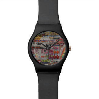 Amanda's magazine & cardboard picture collage #13 wrist watch