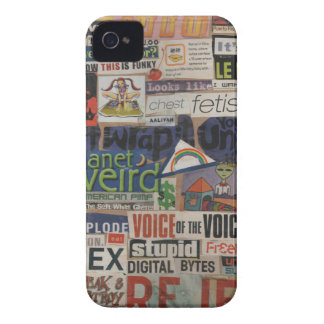 Amanda's magazine & cardboard picture collage #14 iPhone 4 case