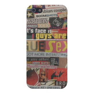 Amanda's magazine & cardboard picture collage #19 iPhone 5 case