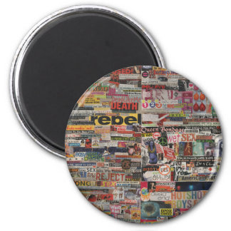 Amanda's magazine & cardboard picture collage #22 2 inch round magnet