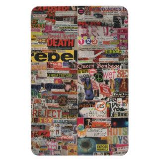 Amanda's magazine & cardboard picture collage #22 rectangular photo magnet