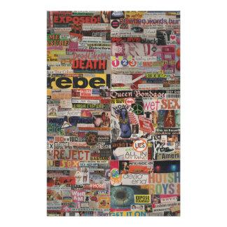 Amanda's magazine & cardboard picture collage #22 stationery