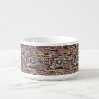 Amanda's word collage craft paper cardboard #24 bowl