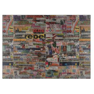 Amanda's word collage craft paper cardboard #24 cutting board