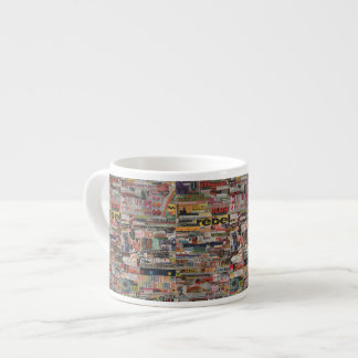 Amanda's word collage craft paper cardboard #24 espresso cup