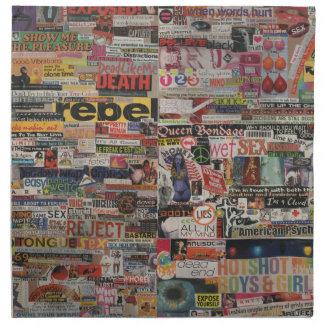 Amanda's word collage craft paper cardboard #24 napkin