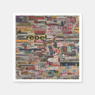 Amanda's word collage craft paper cardboard #24 paper napkins