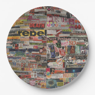 Amanda's word collage craft paper cardboard #24 paper plate