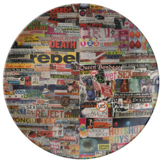 Amanda's word collage craft paper cardboard #24 plate