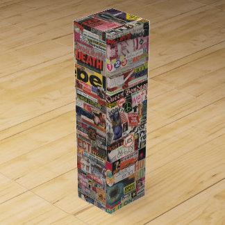 Amanda's word collage craft paper cardboard #24 wine gift box