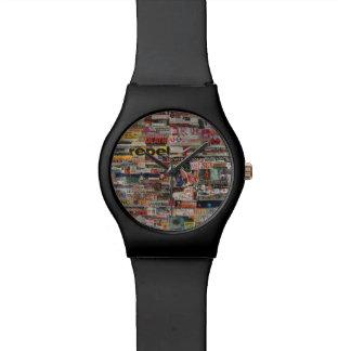 Amanda's word collage craft paper cardboard #24 wrist watch