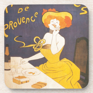 Amandines de Provence French vintage illustration Coaster