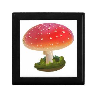 Amanita Red Mushroom Art White Dots Gift Box
