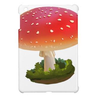 Amanita Red Mushroom Art White Dots iPad Mini Cover