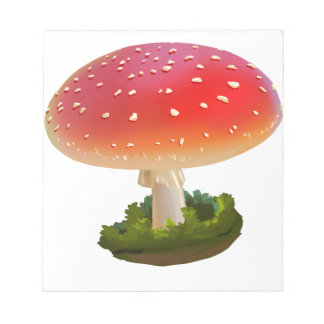 Amanita Red Mushroom Art White Dots Notepad