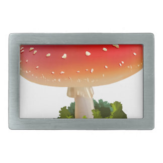 Amanita Red Mushroom Art White Dots Rectangular Belt Buckles