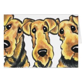 Amant d'Airedale Terrier Carte De Correspondance