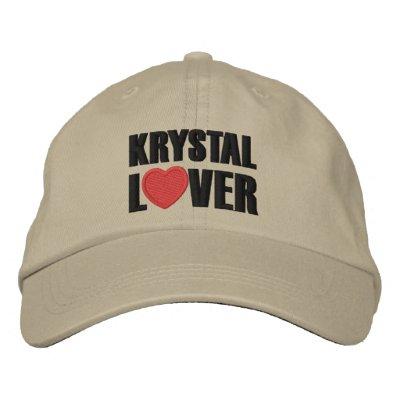 Amant de Krystal Casquette Brodée