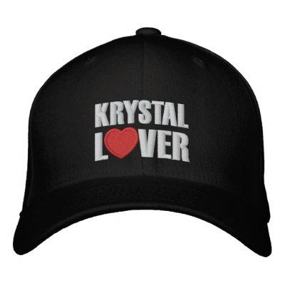 Amant de Krystal Casquettes Brodées