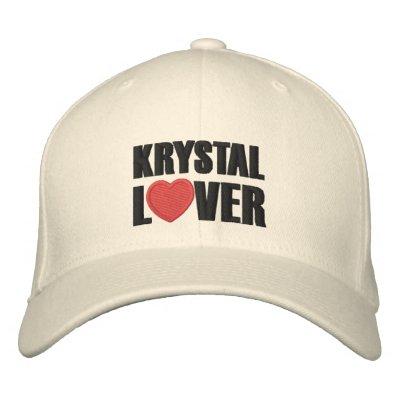 Amant de Krystal Chapeaux Brodés