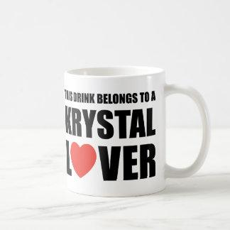 Amant de Krystal Mugs À Café