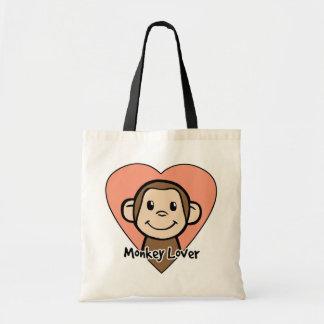 Amant de singe sac en toile budget