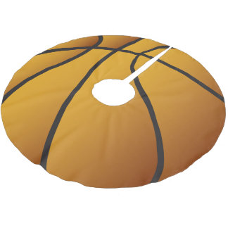 Amants de basket-ball de Joyeux Noël Jupon De Sapin En Polyester Brossé