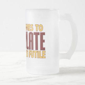 Amants de chocolat mug en verre givré