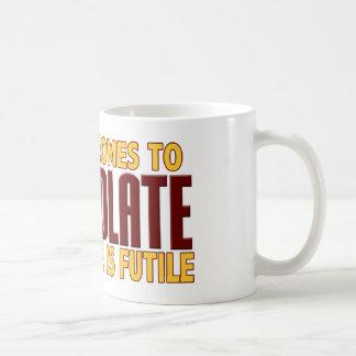 Amants de chocolat tasse à café