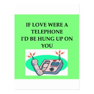 Amants de TÉLÉPHONE Cartes Postales