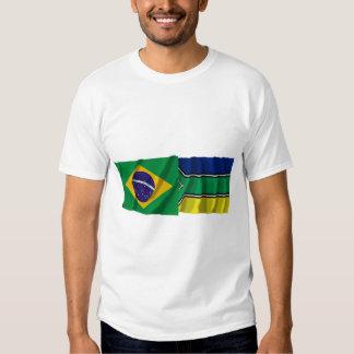 Amapá & Brazil Waving Flags Tee Shirt
