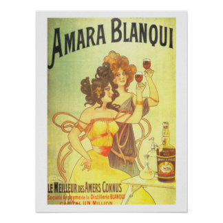 Amara blanqui French victorian advertisement Poster