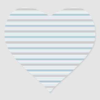 Amara Stripe Cornflower Heart Sticker