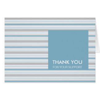 Amara Stripe Cornflower Thank You For Your Support Card