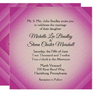 Amaranth Diamond Wedding Invitations