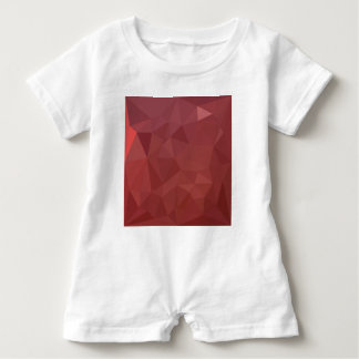 Amaranth Purple Abstract Low Polygon Background Baby Romper