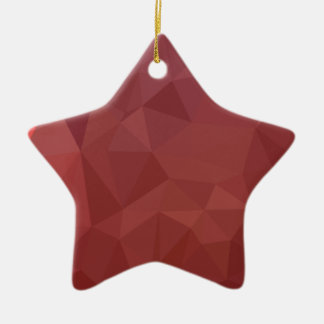 Amaranth Purple Abstract Low Polygon Background Ceramic Ornament