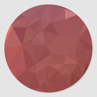 Amaranth Purple Abstract Low Polygon Background Classic Round Sticker